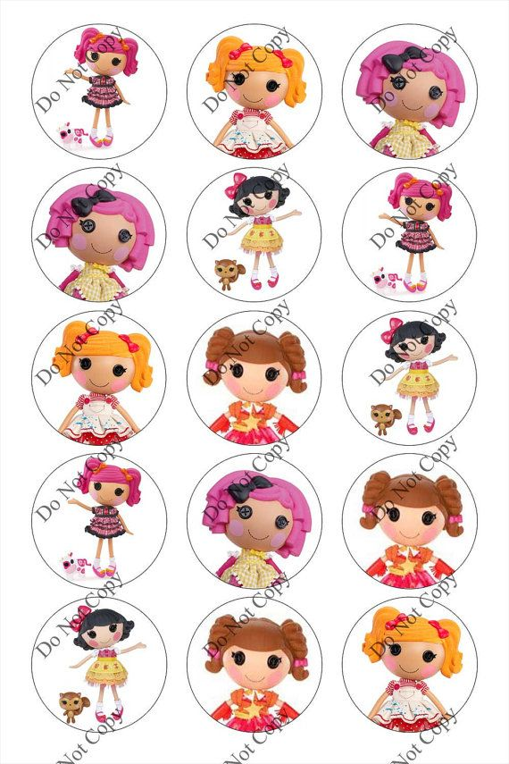 LALALOOPSY   2       1inch Round Bottle Cap Images 4 x by YouSmile