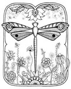 Dragonfly Coloring Page Yahoo Image Search Results Zentangle