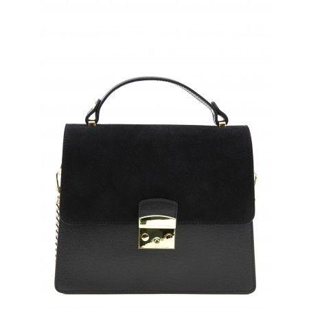 49d11d6673ffe €125 Saffiano Leather and suede handbag - Camelia Roma