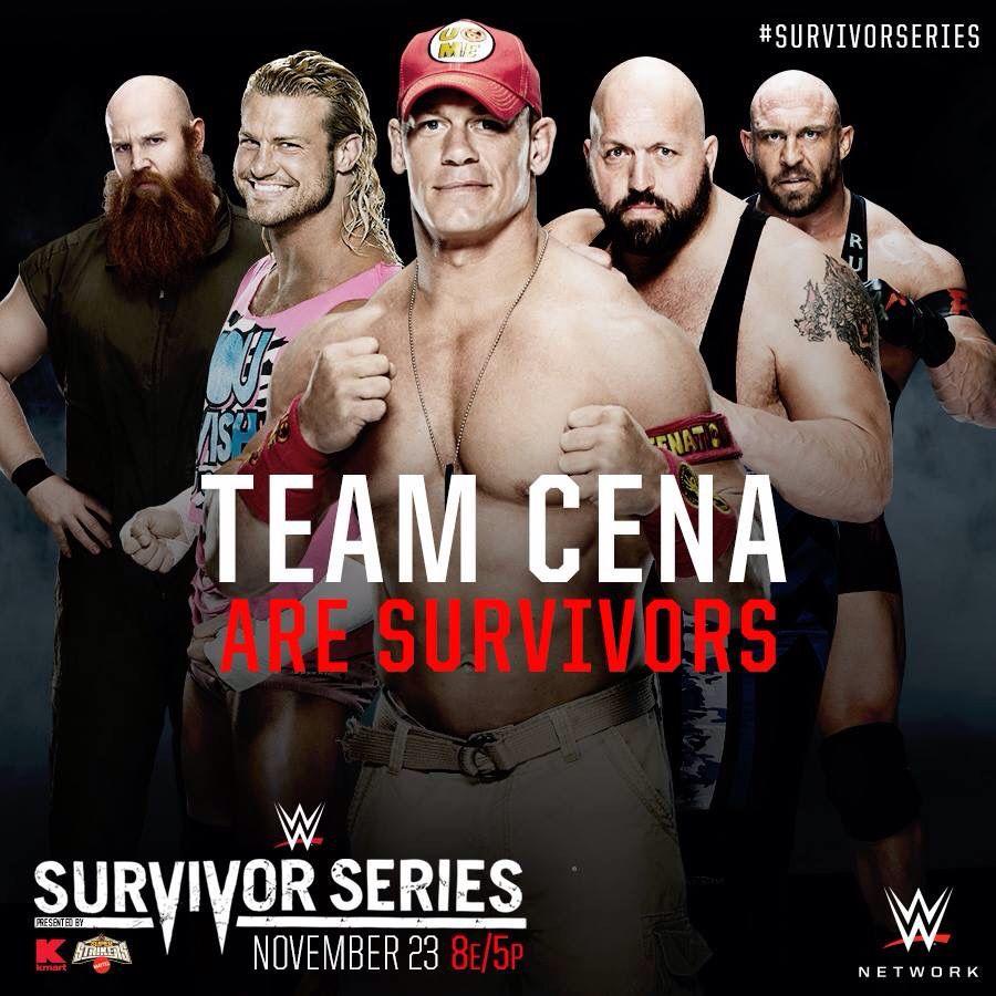 Wwe Survivor Series 2014 Team Cena Erick Rowan Dolph Ziggler