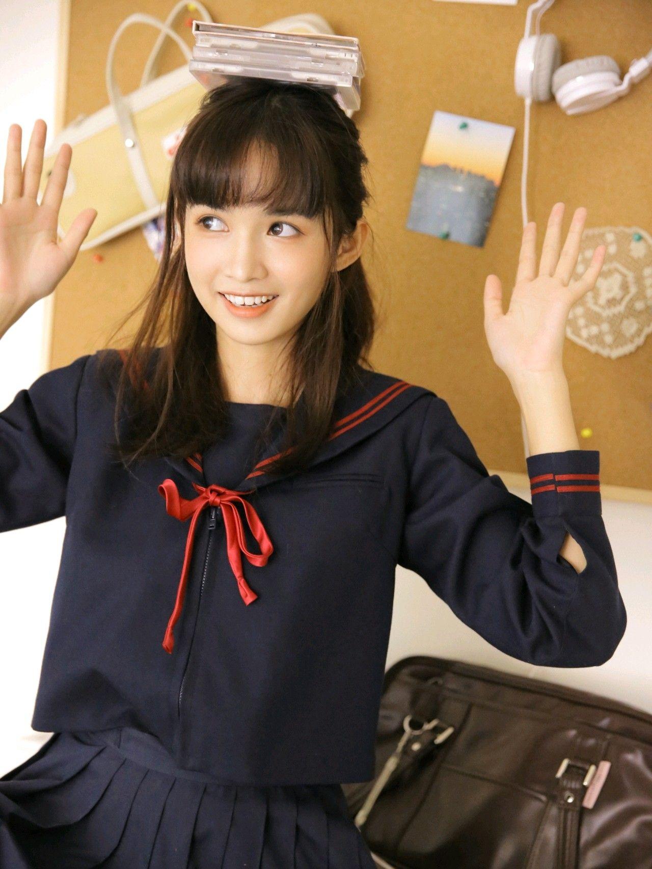 漂亮、清純、可愛的JK高中水手服美少女