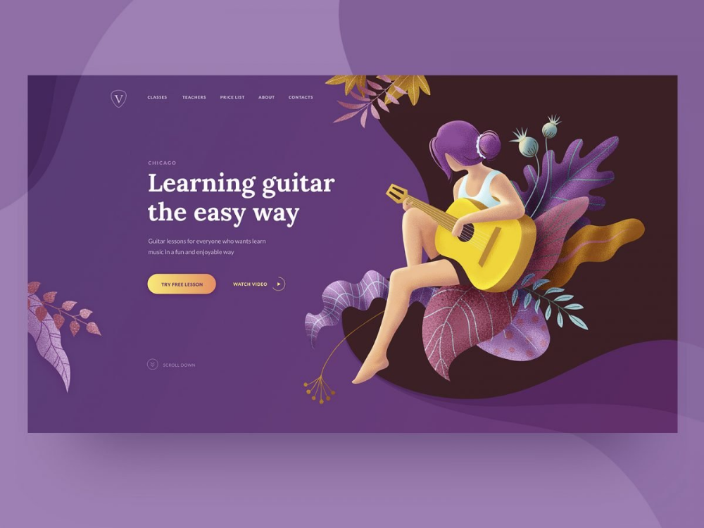 Web Design Inspiration: 20+ Lovely Landing Pages with Hero Illustrations