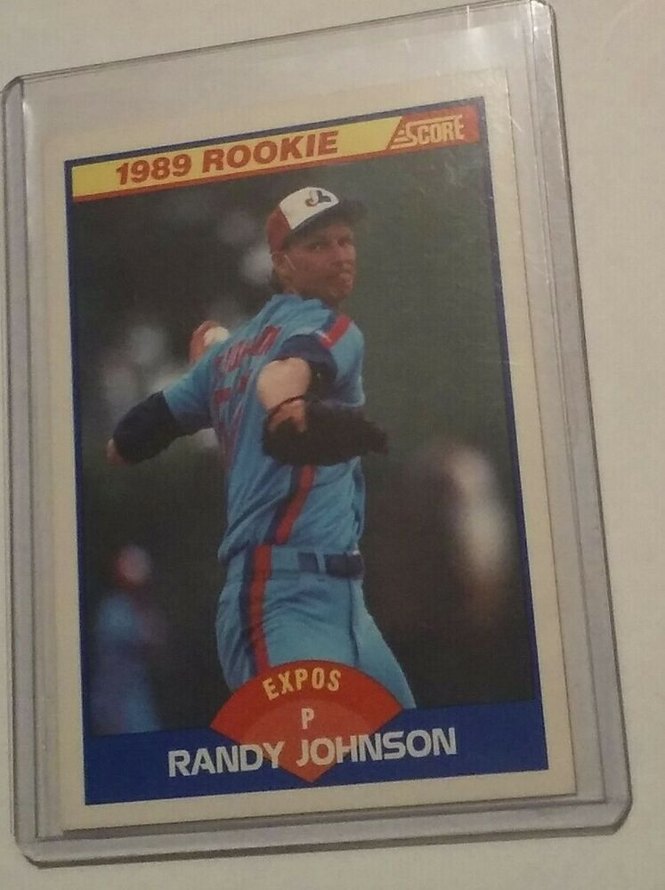 1989 score baseball rookie card randy johnson 645
