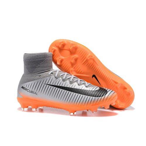 New Nike Mercurial Superfly V Fg Soccer Cleats Silver Orange Black Tenis Para Futbol Nike Mercurial Superfly Futbol