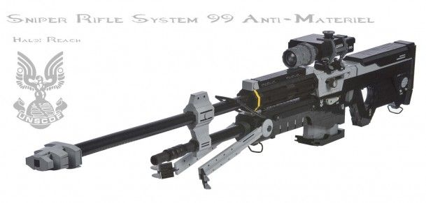 1:1 replica of the SRS 99 sniper rifle from Halo: Reach. Made out of Legos.