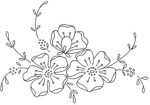 Fiori disegno di ricamo ricamo pinterest ricamo - Fiore collegare i punti ...