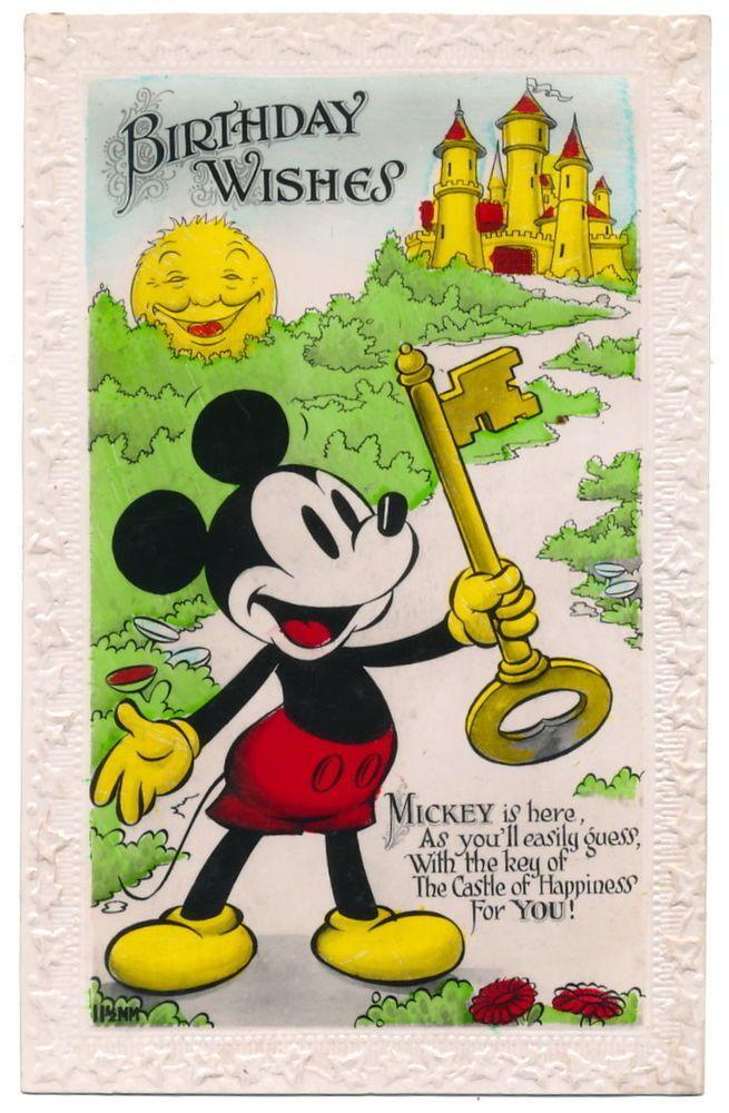 NEW Art of Disney Heritage Walt /& Mickey Postcard