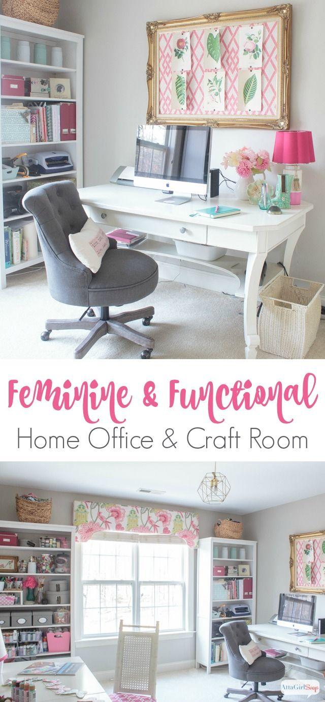 Feminine Home Office Craft Room Tour Feminine Home Offices