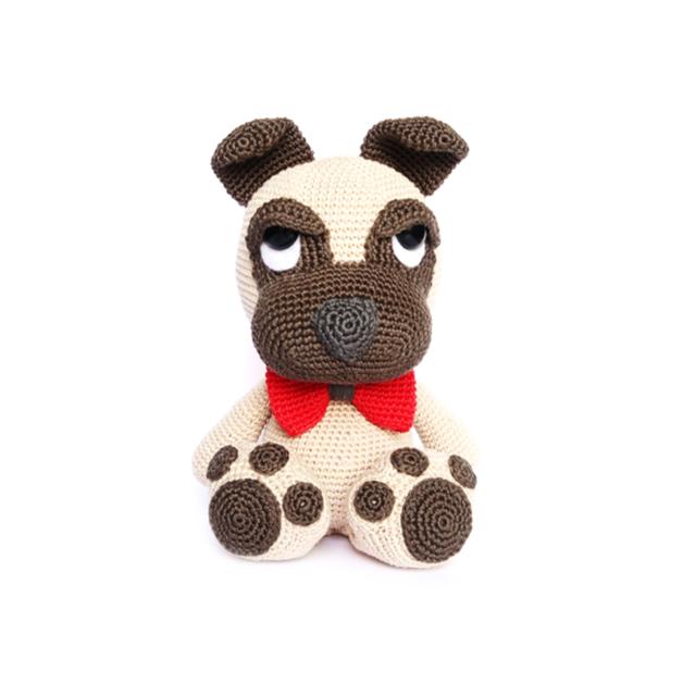 PUG Crochet Pattern | Crochet perro, Patrones y Amigurumis patrones ...