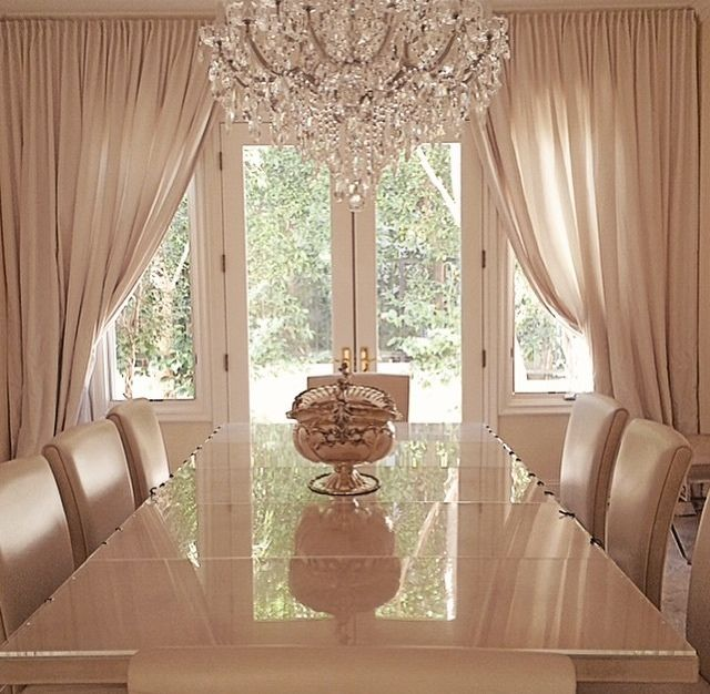 Nandeezy Dinning Room Curtains Beige Dining Luxury