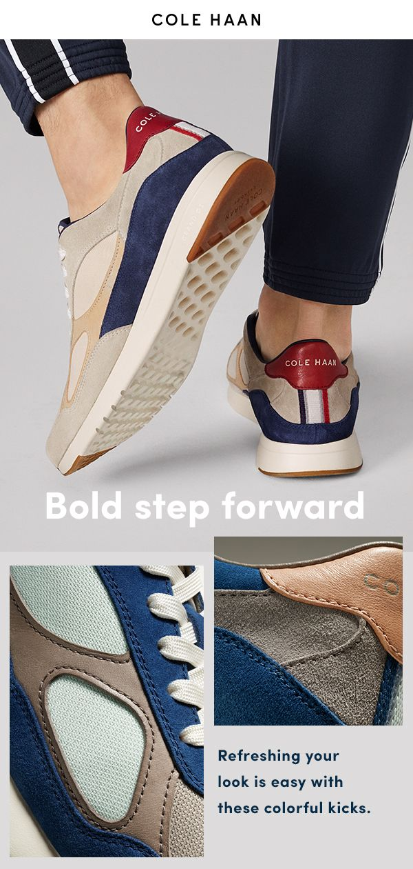 cc7849f551cb7 Cole Haan's latest offering of colorful sneakers let men on the move make a  bold,