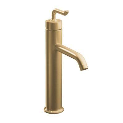 Kohler Purist Tall Single Hole 1 Handle Bathroom Faucet With Smile