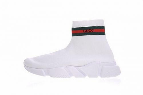 927fe1061bc Best Quality GUCCI x Balenciaga Speed Stretch Knit Sneaker Blanc Vert Rouge  454484 W05G0 1000