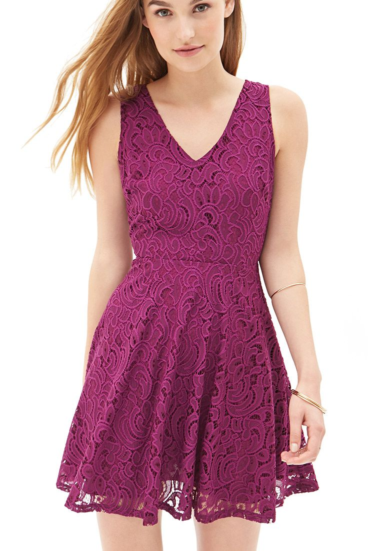 18 Floral Lace A-Line Dress - Dresses - 2000105252 - Forever 21 UK ...
