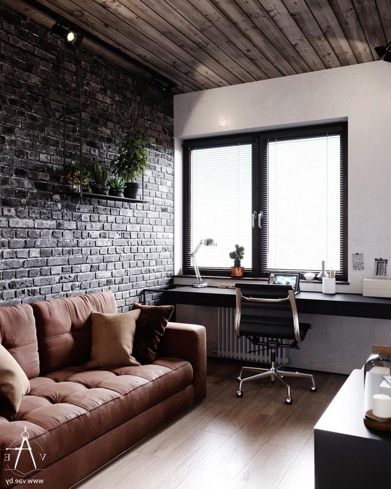 20 Elegant Industrial Style Home Offices That Sport