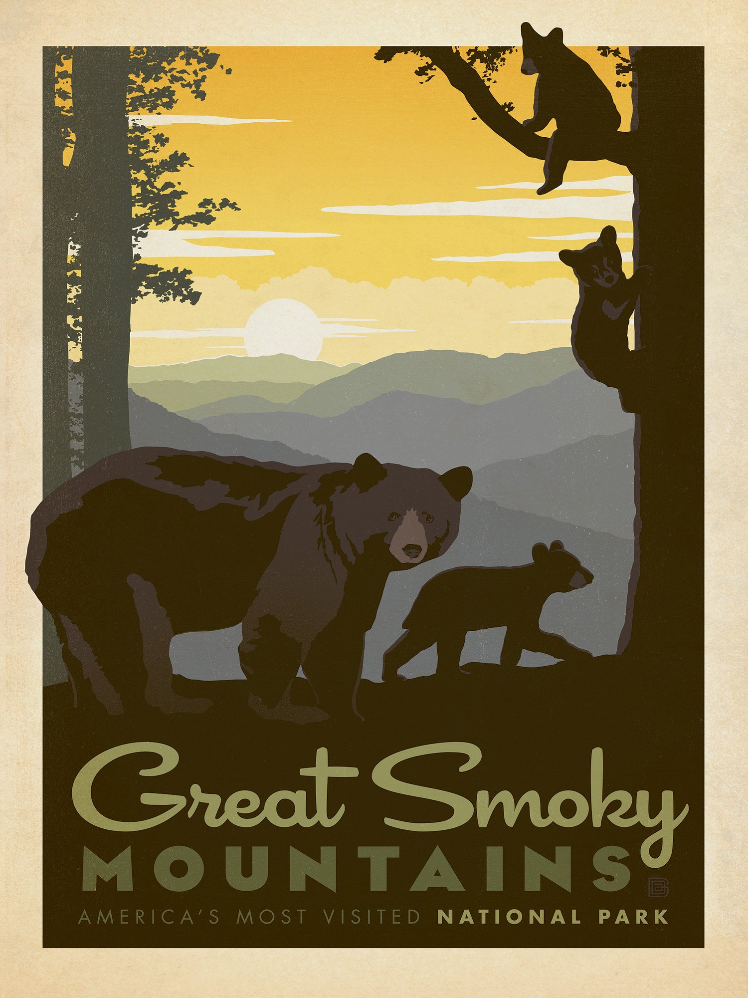 Great Smoky Mountains National Park Series 500 Piece Jigsaw Puzzle Smoky Mountains Art Mountain Art Print National Park Posters