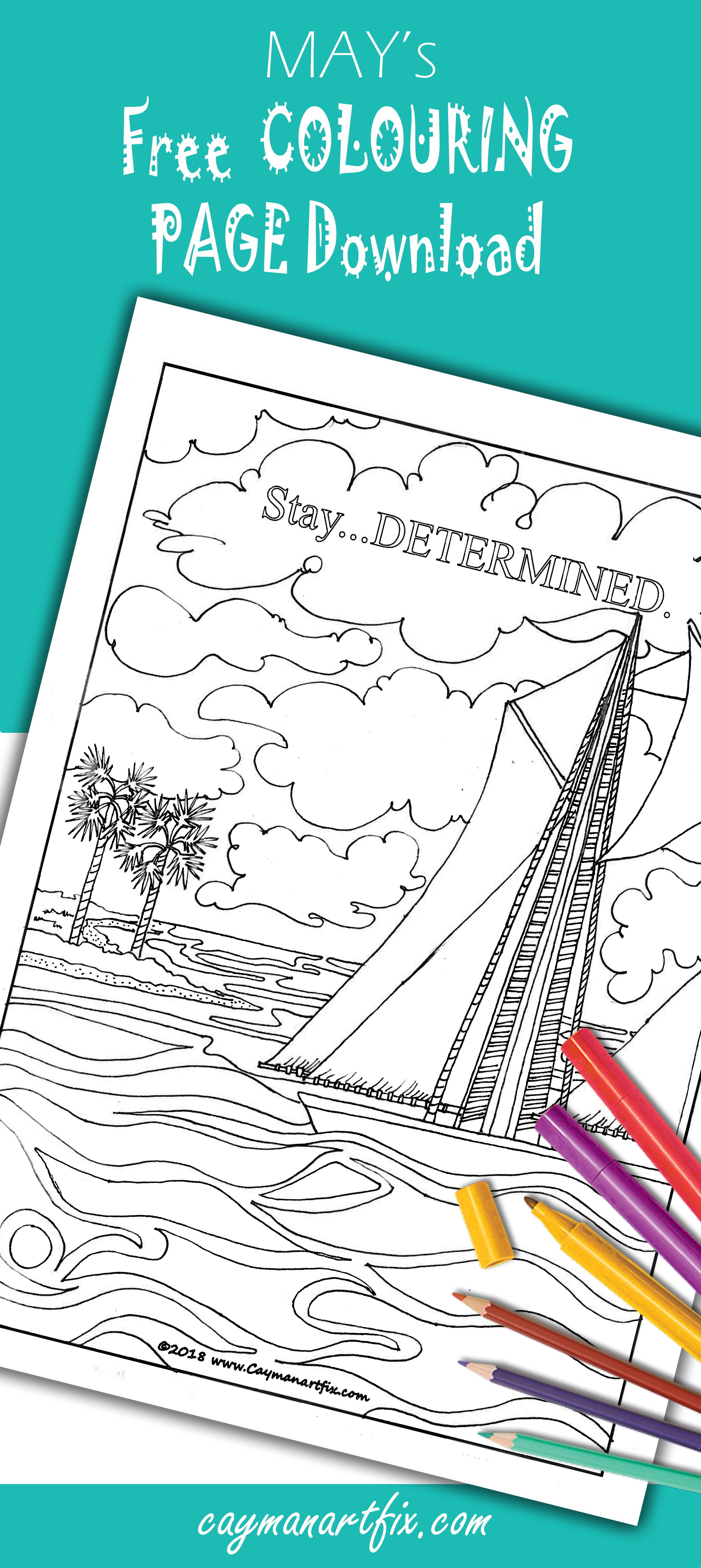 Stay determined with this may colouring page in free coloring
