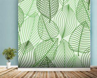 green autumnal leaves wallpaper mural wallpaper wall murals chloegreen autumnal leaves wallpaper mural wallpaper wall murals