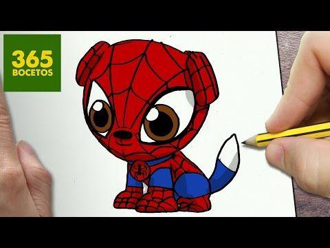 Como Dibujar Perro Spiderman Kawaii Paso A Paso Dibujos Kawaii