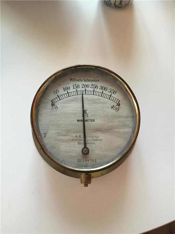 Antik Manometer Millimeter Vattenpelare