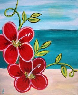 Image Result For Paint Night Paintings Flower Flower Painting