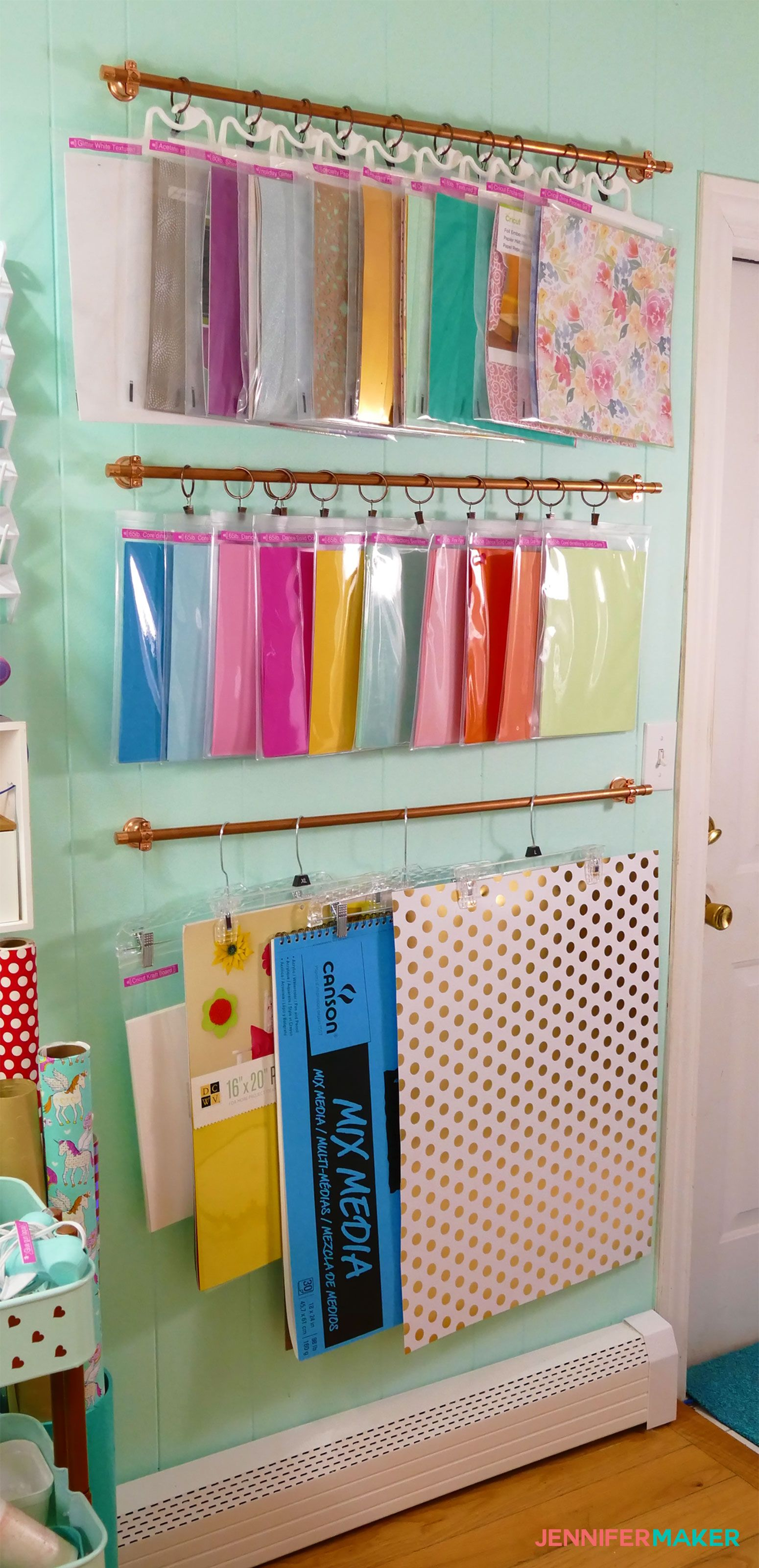 Diy Hanging Storage System For Craft Supplies Jennifer Maker