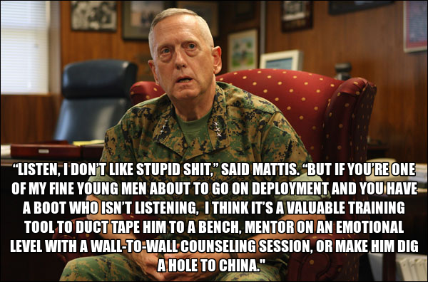 Image result for pics of mad dog mattis
