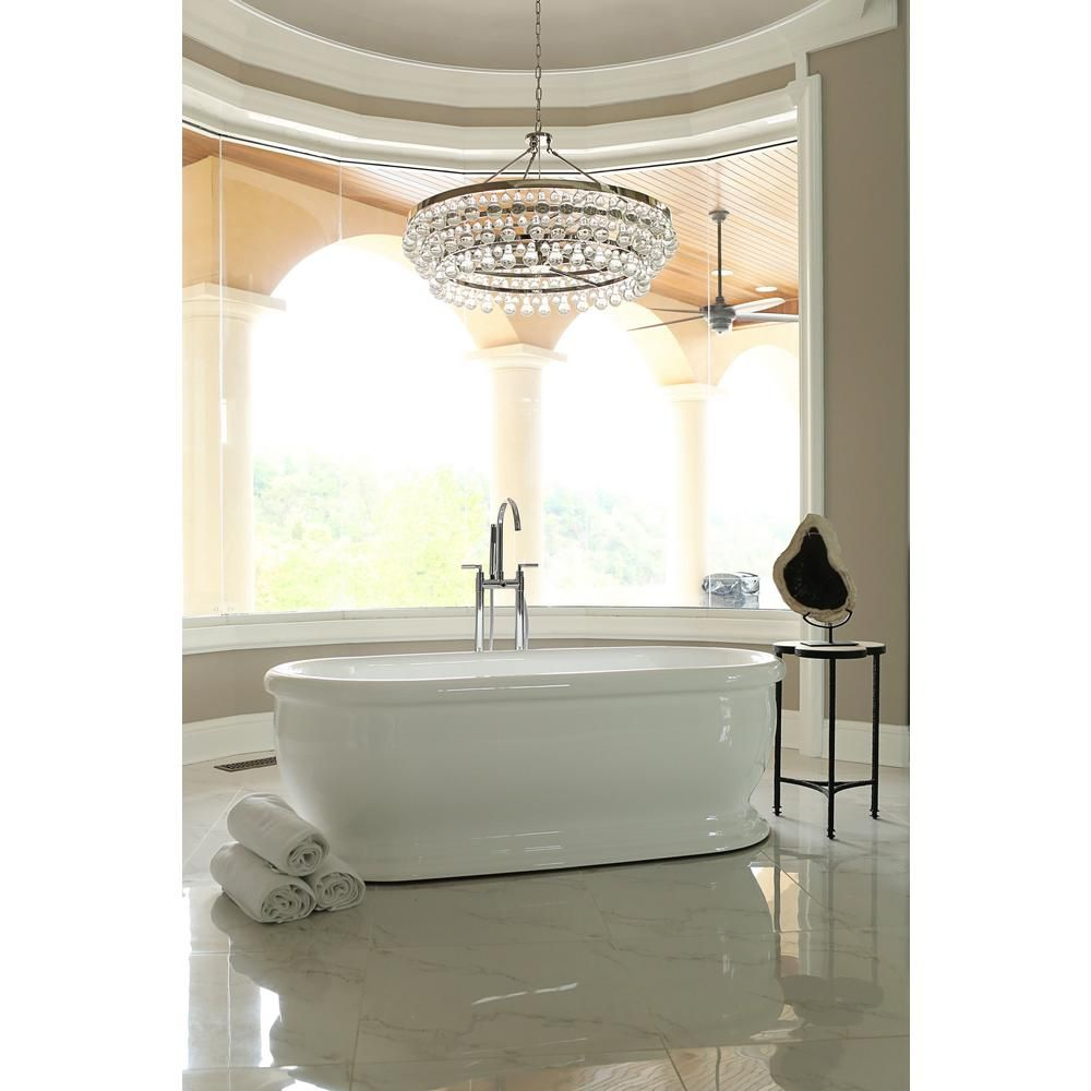 Pinnacle Bliss 5 7 Ft Acrylic Flatbottom Non Whirlpool Bathtub In