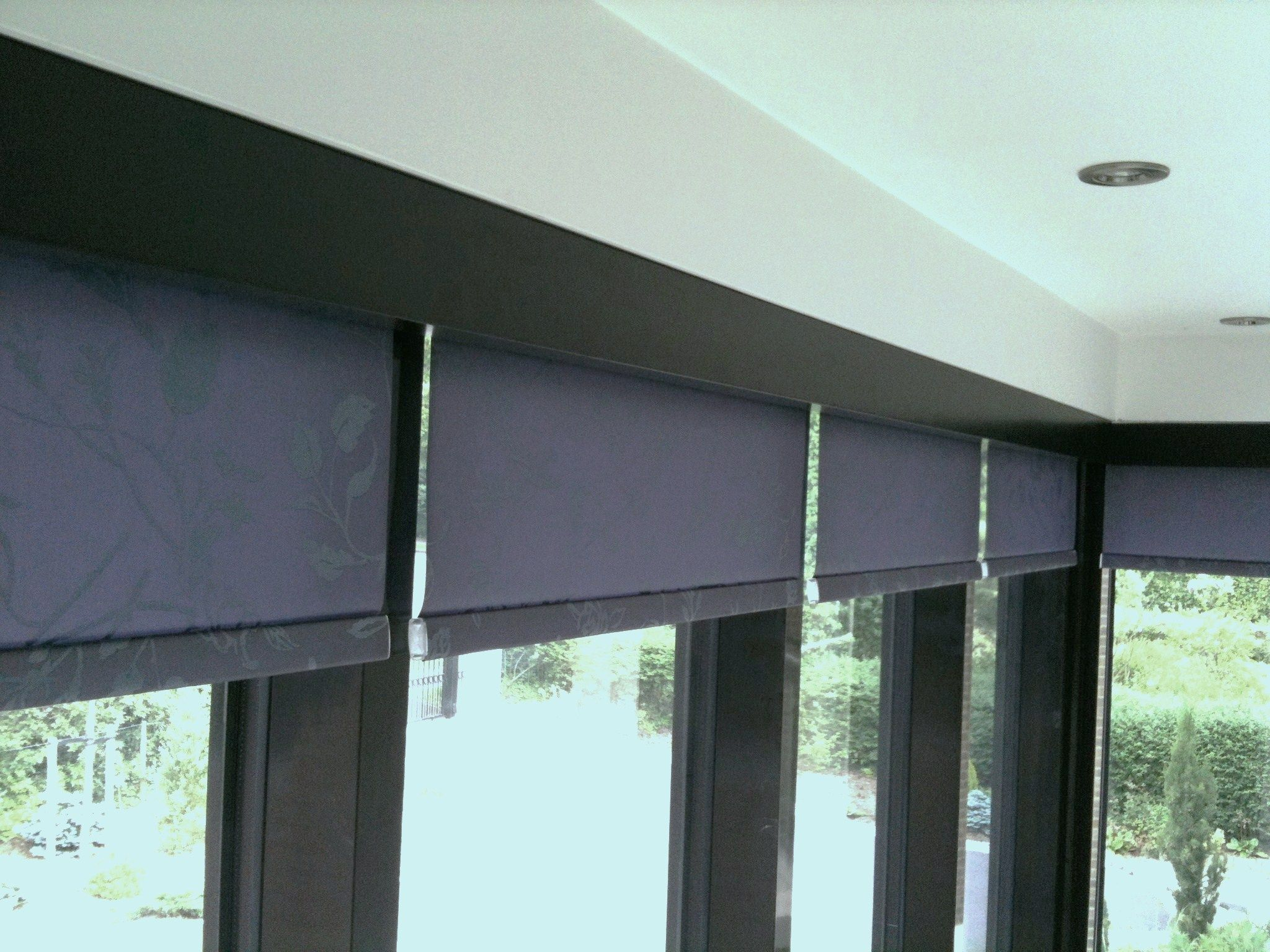Office Blinds | ... To Hide The Roller Blinds And To Match The Black Window  Frames
