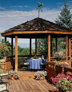 Holz Terrasse Gartenlaube Ideen Essplatz Tisch Garten In 2019