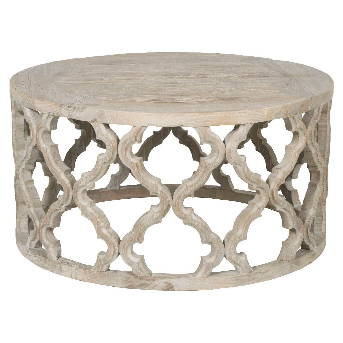 Clover coffee table grey wood coffee table contemporary