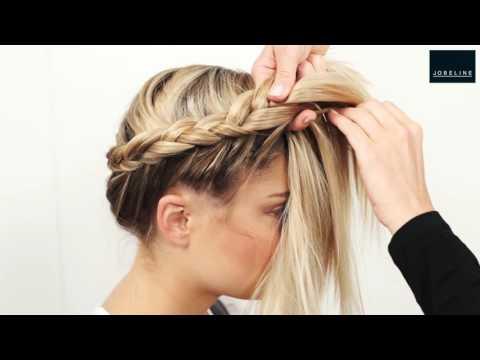 Video Tutorial Frisurflechten Krone Youtube Braided Hairstyles Short Hair Styles Easy Box Braids Hairstyles