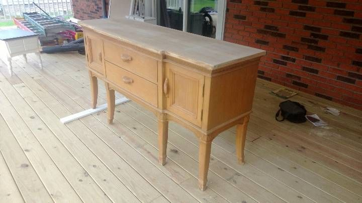 This is the buffet table I found, I had already done some sanding then I remembered to take a picture.