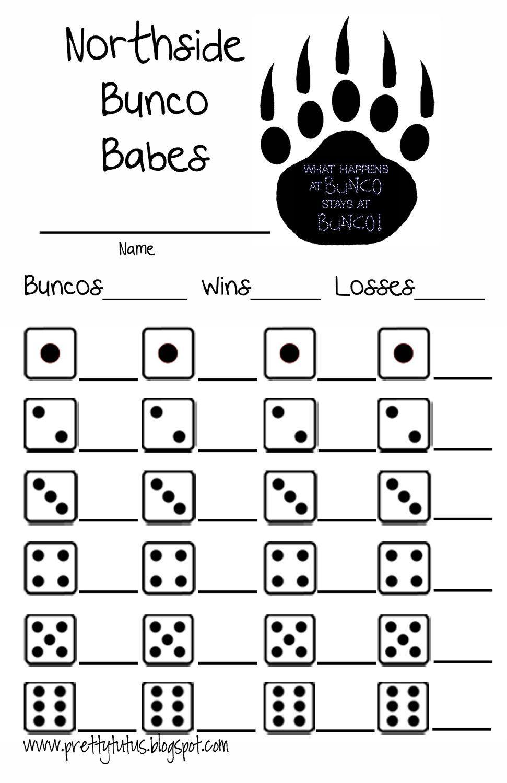 Custom Bunco Score Sheet  Bunco    Bunco Party And