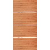 Movida Mahogany Flush Door With 1 4 Horizontal 3 Aluminum Strips 1 3 4 Mahogany Doors Interior Contemporary Interior Doors