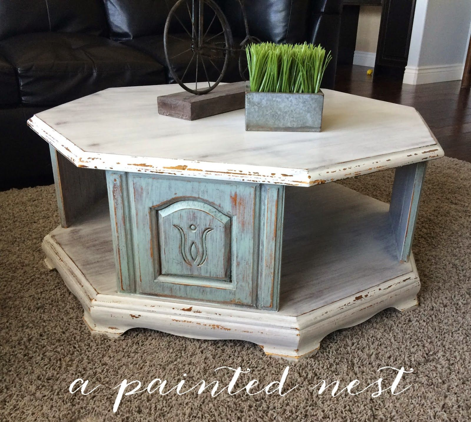 Octagon coffee table for sale from A Painted Nest