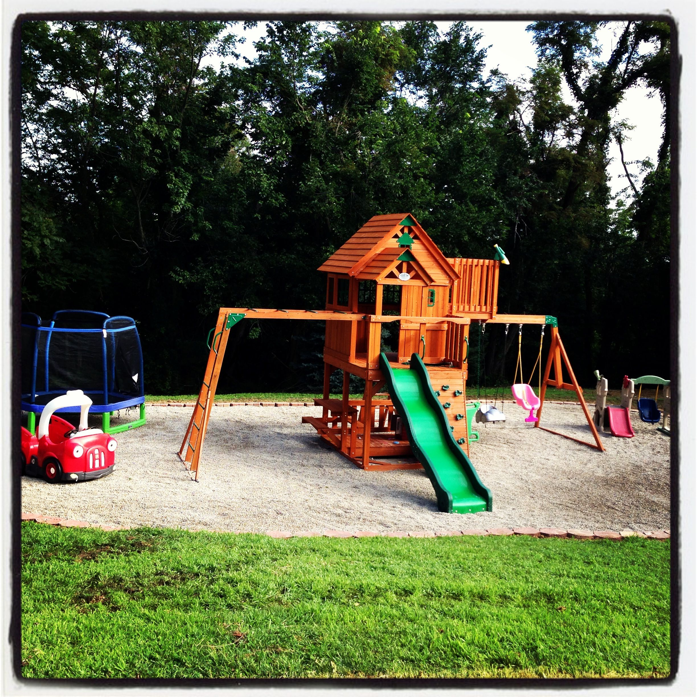 Kids backyard play area