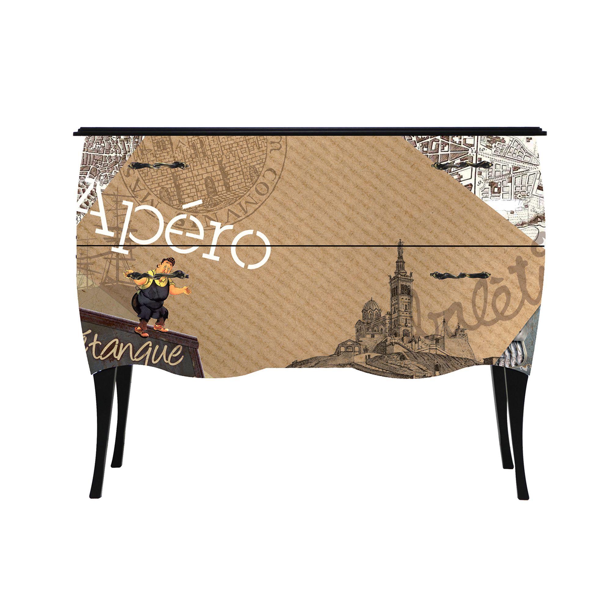print baroque apro petite commode tiroirs imprim rtro dlicat marque alinea baroque et originale. Black Bedroom Furniture Sets. Home Design Ideas