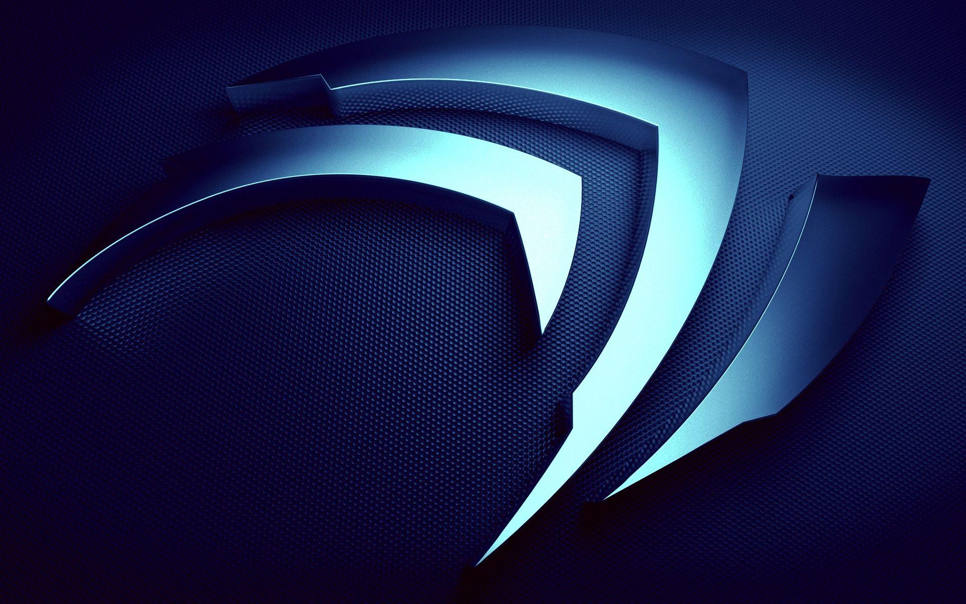 Wallpaper Blue Logo Nvidia Desktop Desktop Wallpapers In