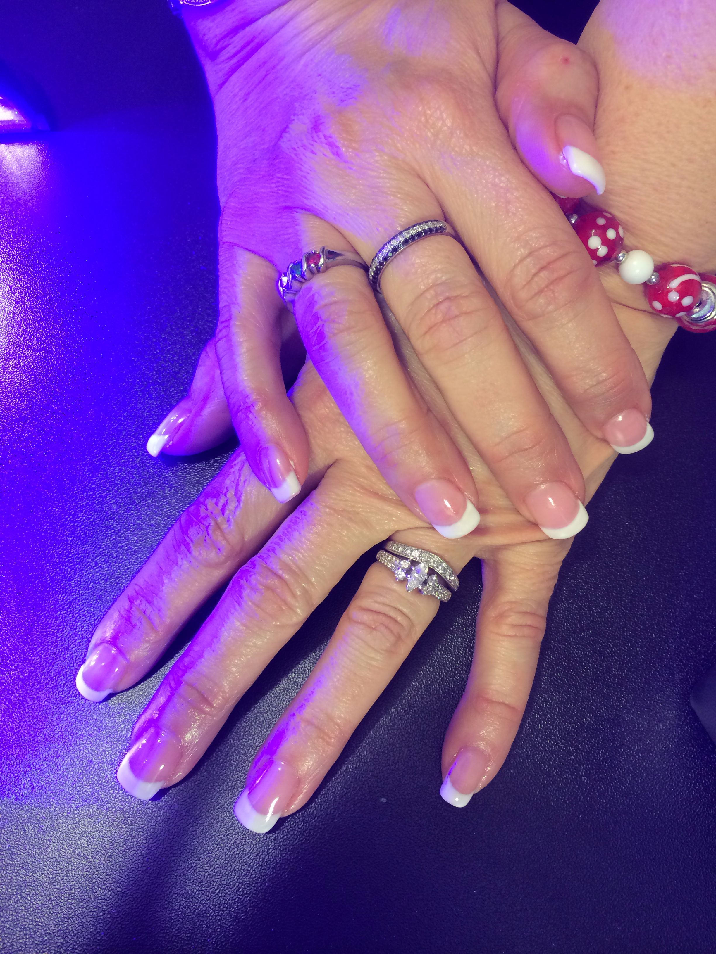 Pink & white free form gel   Nails by Rene\'e   Pinterest   Pink white