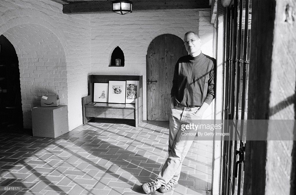 Ceo And Chairman Of Apple Steve Jobs At His Palo Alto Home For