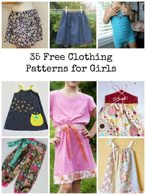 50+ Free Clothing Sewing Patterns for Girls | Sewing-Grandkids