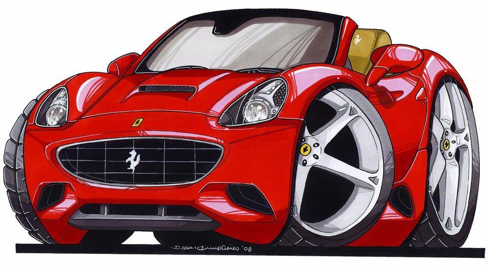 Pin By Tar Antal On Cartoon Car Cartoon T Shirts Cartoon Ferrari
