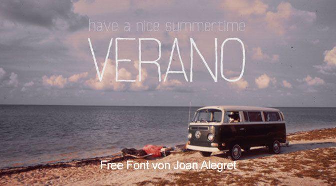 Free Font Verano