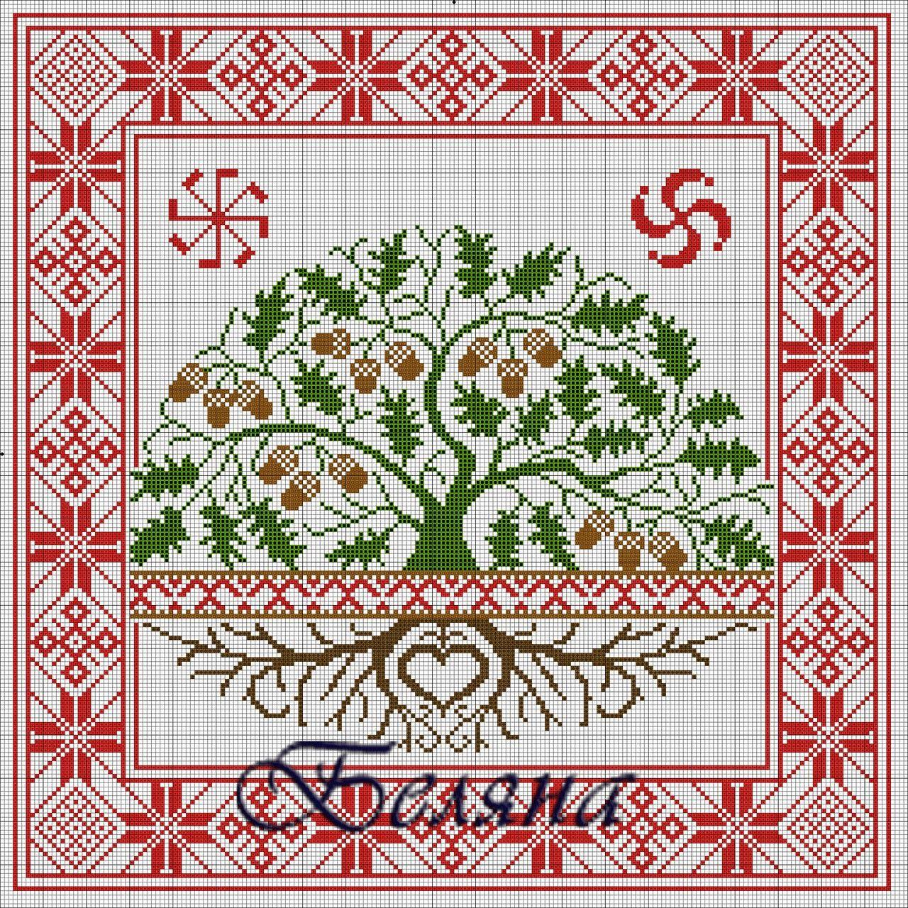 схема для вышивки белорусские символы