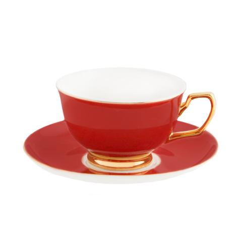 Teacup Ebony Polka Cristina Re Designs International Tea Cups Tea Cup Saucer Tea Cup Collection