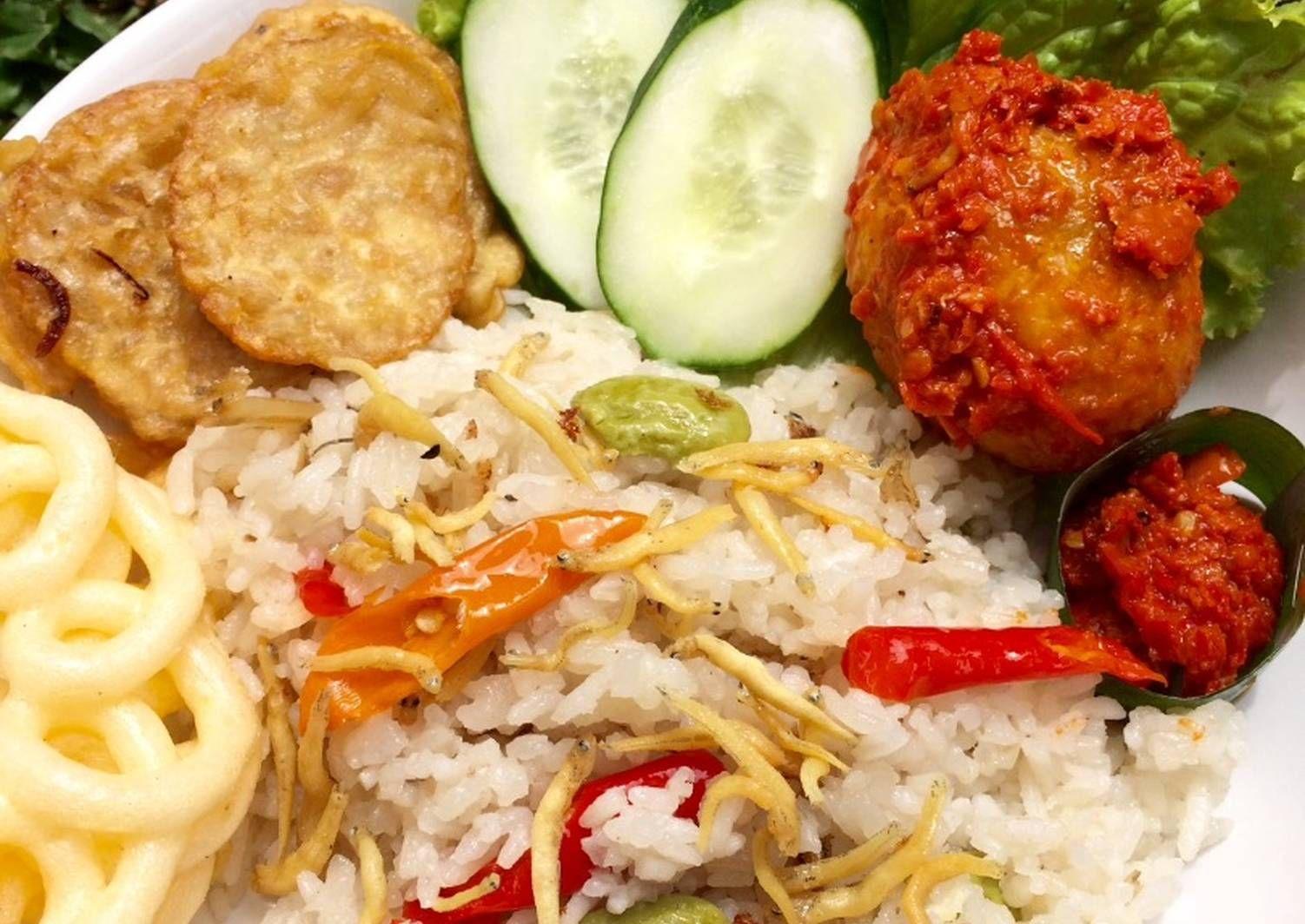 Resep Nasi Liwet Rice Cooker Oleh Melanii Resep Masakan Masakan Indonesia Resep Makanan