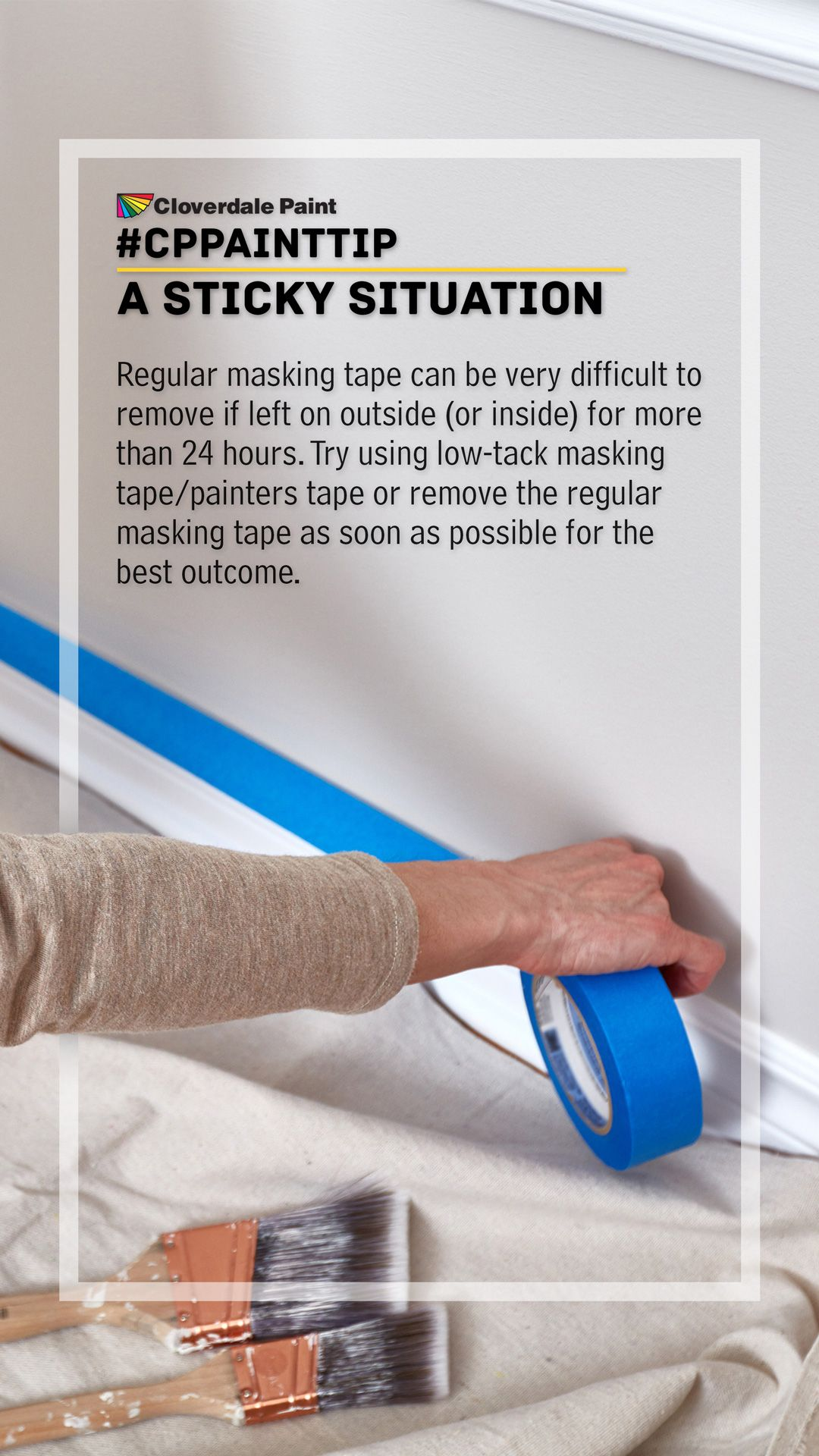Cppainttip A Sticky Situation Painters Tape Masking Tape How To Remove