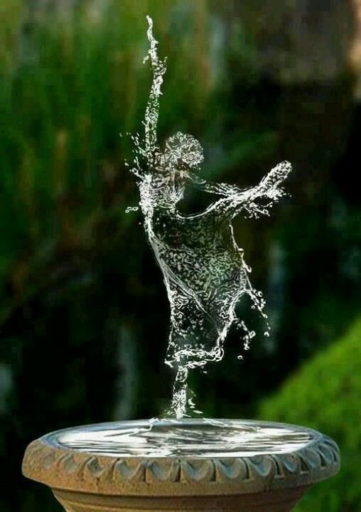 ..dancing in the fountain..