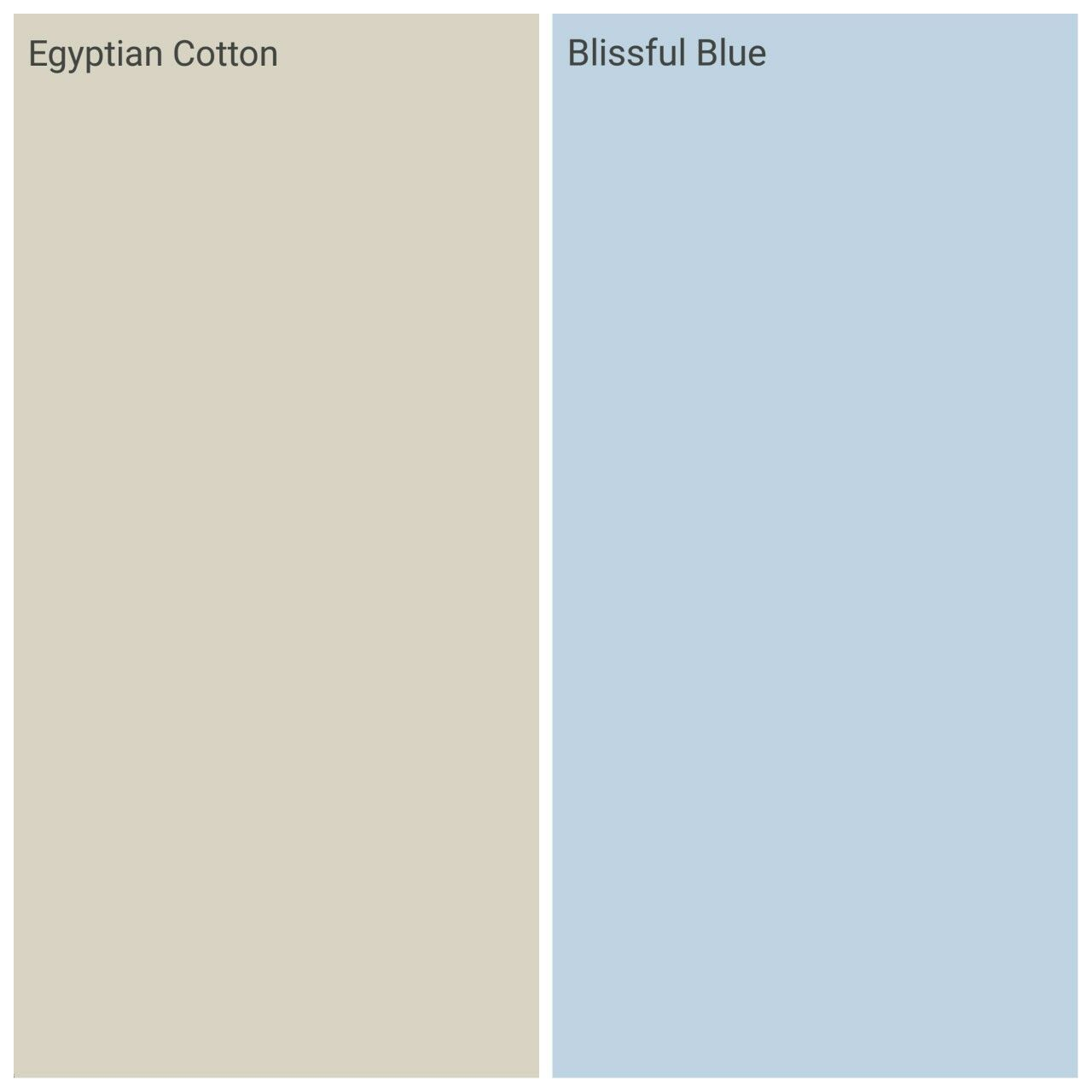Dulux Blissful Blue And Egyptian Cotton, Guest Bedroom